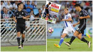 Asensio, el día que marcó su gol en Anoeta ante la Real Sociedad.