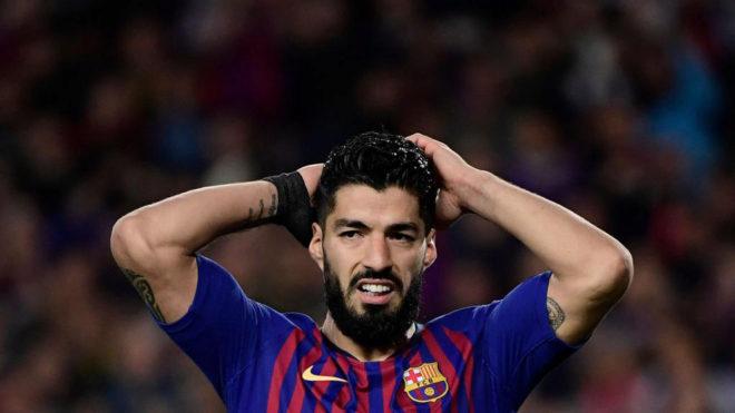 Suárez no sumará más puntos Fantasy esta temporada por una lesión...
