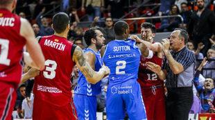 Una imagen de la pelea en el Príncipe Felipe de Zaragoza