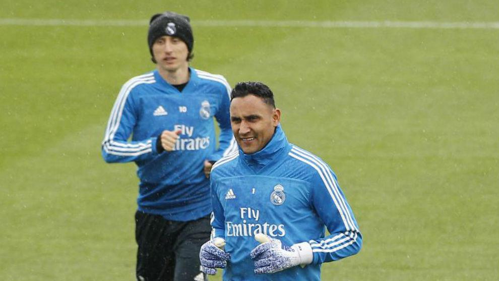 Real Madrid: Real Madrid Train Without Keylor Navas