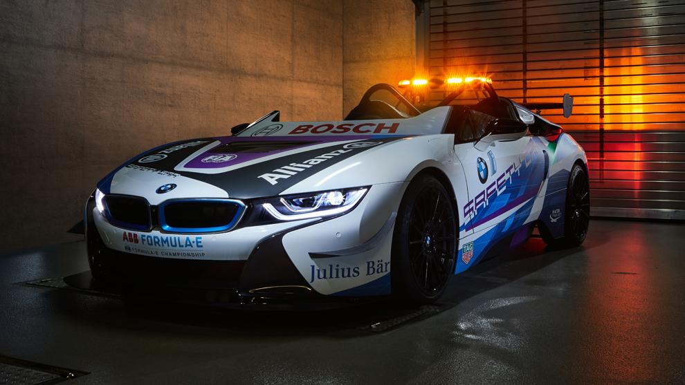 Así es el nuevo BMW i8 Roadster Safety Car de la Fórmula E.