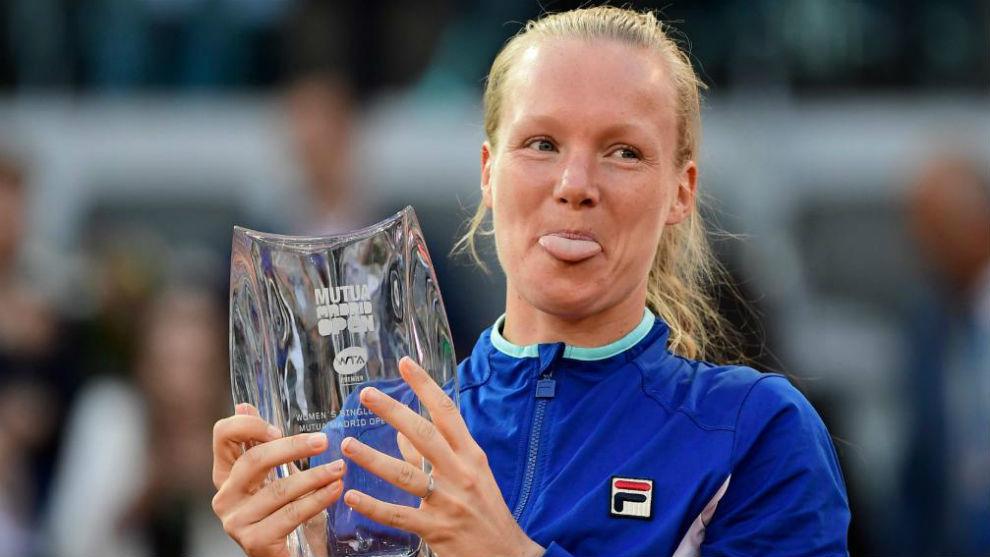 Bertens, con el trofeo de campeona de Madrid
