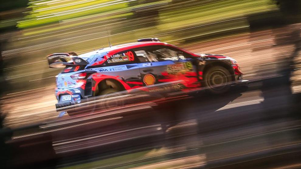 Sebastien Loeb (Hyundai) en el Rally de Chile