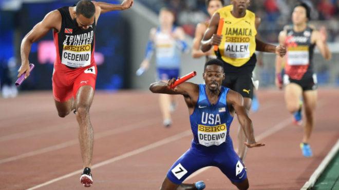 Machel Cedenio, de Trinidad y Tobago, supera al estadounidense Paul...