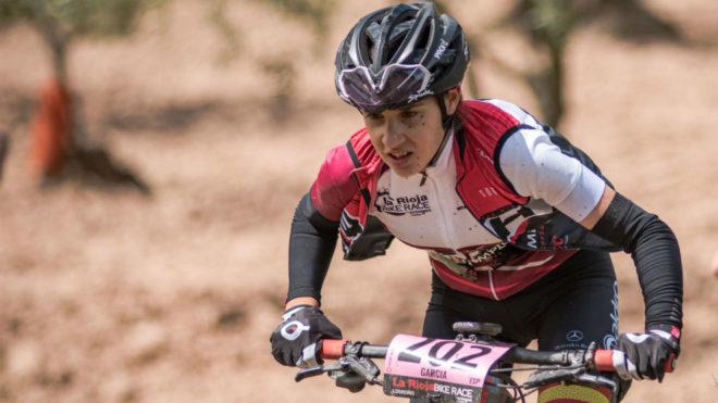 Rocío del Alba García, durante La Rioja Bike Race.
