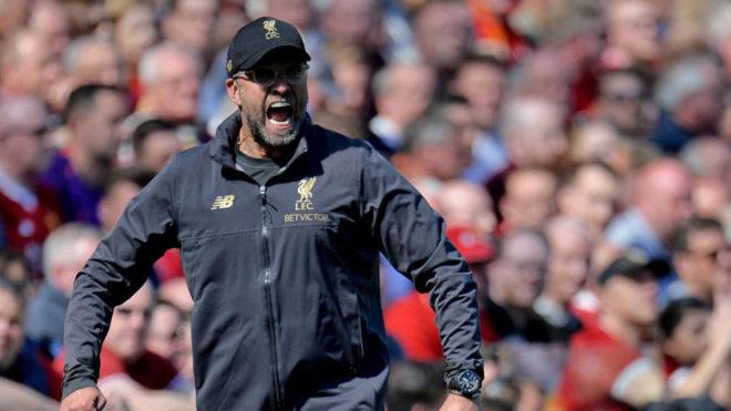 Klopp, durante el duelo entre el Liverpool y el Wolverhampton.
