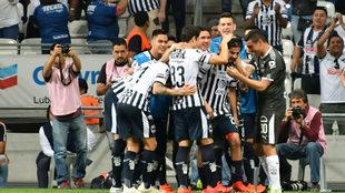 Celebración de los jugadores del Monterrey.