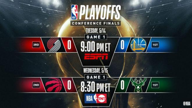 Raptors y Blazers avanzan a las finales de conferencia de la NBA