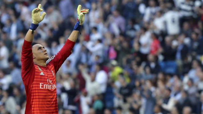 Keylor Navas during a match this season.
