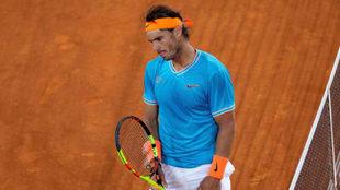 Rafa Nadal, tras caer en semifinales de Madrid con Stefanos Tsitsipas.