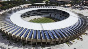 Vista desde arriba del estadio Mineirao.