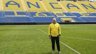 Pepe Mel posó en el Gran Canaria en marzo  para una entrevista con...