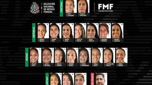 La selección mexicana femenil mayor jugará tres partidos amistosos.
