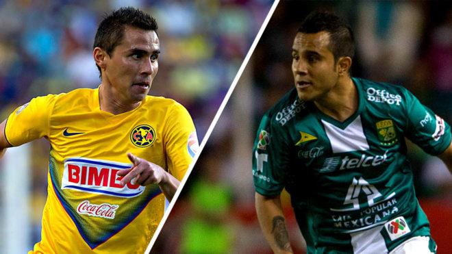 Aguilar y Montes durante el Apertura 2013