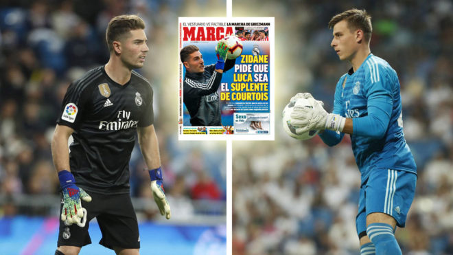 f03d7817b Zidane wants son Luca to be Real Madrid's second-choice goalkeeper next  season