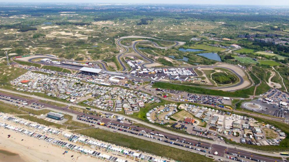 Imagen del circuito de Zandvoort actual.