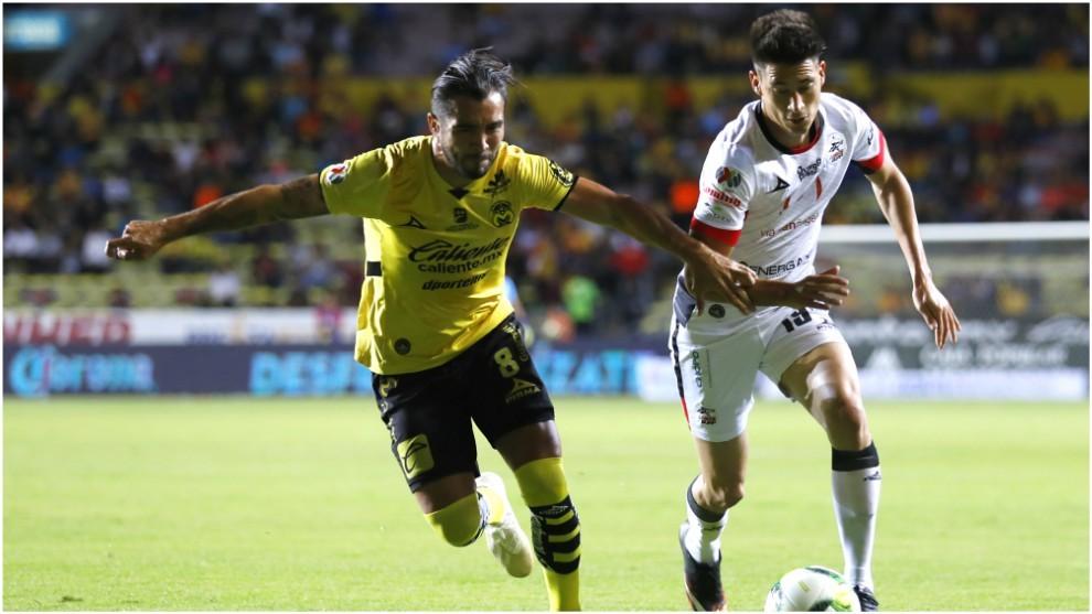 Mauro Lainez, en un partido ante Morelia en el Clausura 2019.
