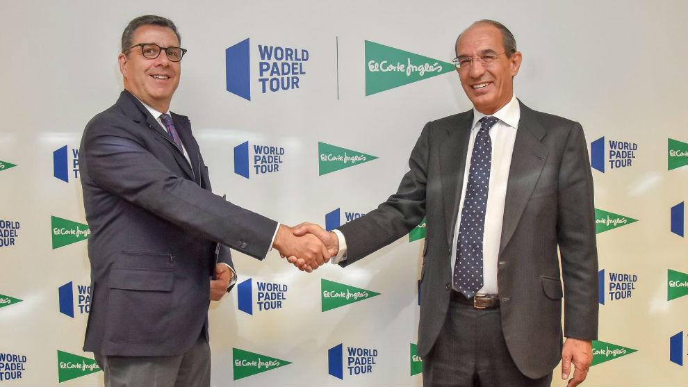 José Luis Serrano, World Padel Tour, y José Luis González Besada,...