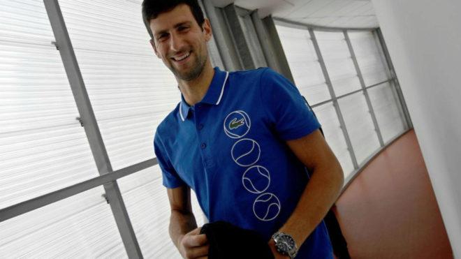 Novak Djokovic antes de hablar con la prensa en Roma.