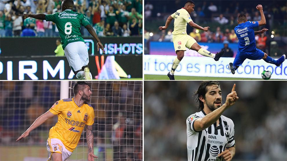 León, América, Tigres y Rayados suman 146 goles en lo que va del...