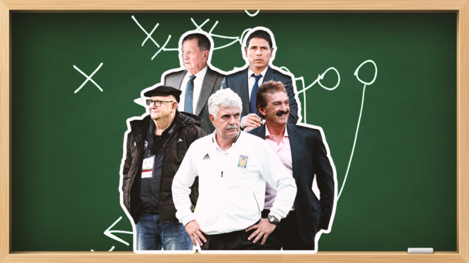 Los maestros del fútbol mexicano.