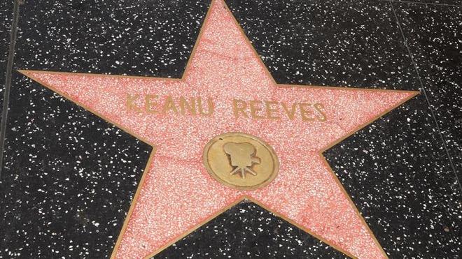 La estrella de Keanu Reeves en el Paseo de la Fama