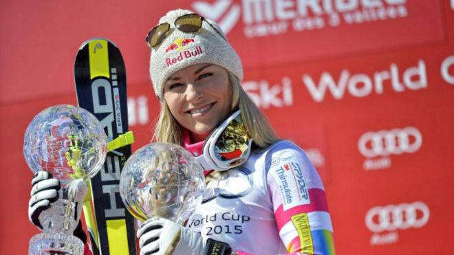 Lindsey Vonn, con dos Globos de Cristal.