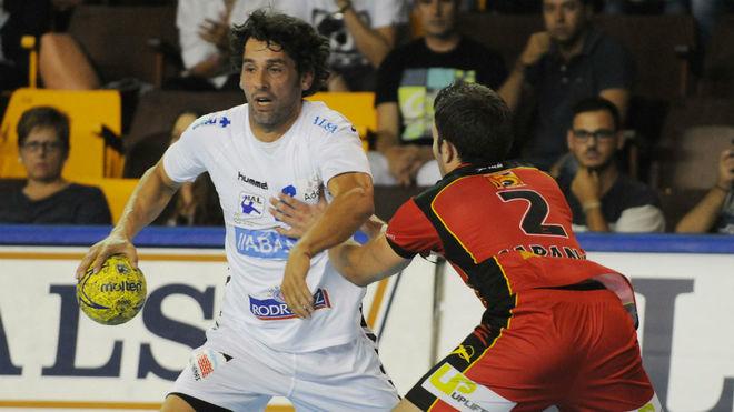Juanín García, durante un encuentro ante el Huesca /