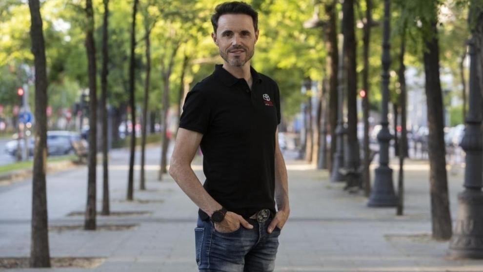 Samuel Sánchez posa para MARCA en la Castellana.