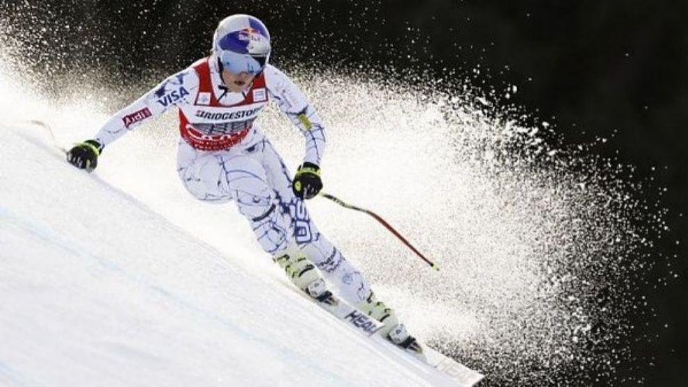 (Archivo) Vonn, una esquiadora muy agresiva
