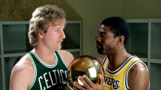 La NBA premiará a Larry Bird y Magic Johnson.