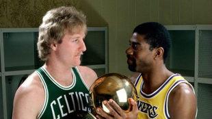 La NBA premiará a Larry Bird y Magic Johnson.