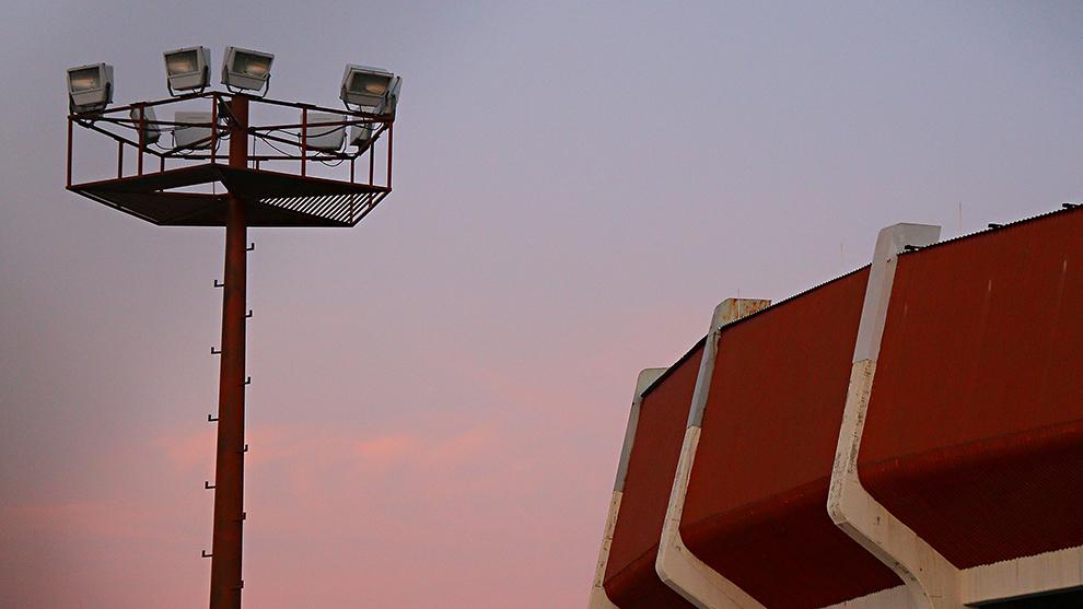 Panorámica del Estadio La Corregidora previo a un partido de 2014.