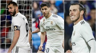 Benzema, Asensio y Bale, el tridente que debía tomar el relevo de la...