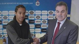 Fernando Vidal, durante la presentación de Helder Costa hace cuatro...