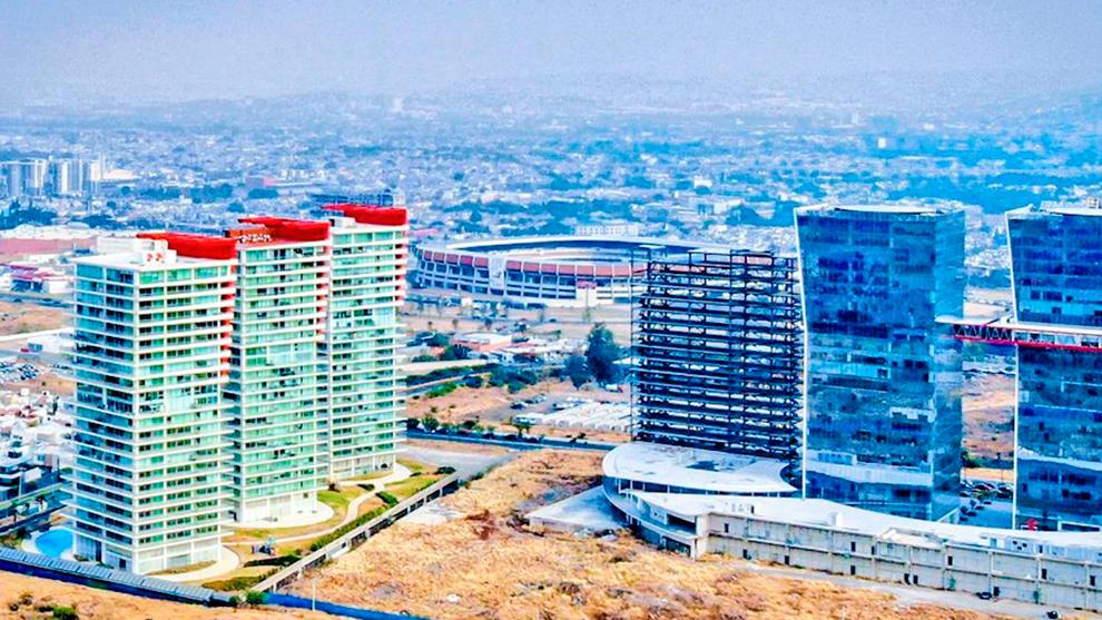 Panorámica de La Corregidora desde el hotel de concentración del...