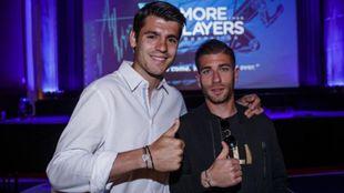 Adrián Embarba junto a Álvaro Morata en More Than Players