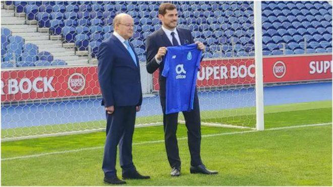 Iker Casillas with Pinto da Costa