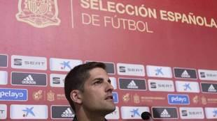 Robert Moreno, durante su comparecencia ante los medios de...