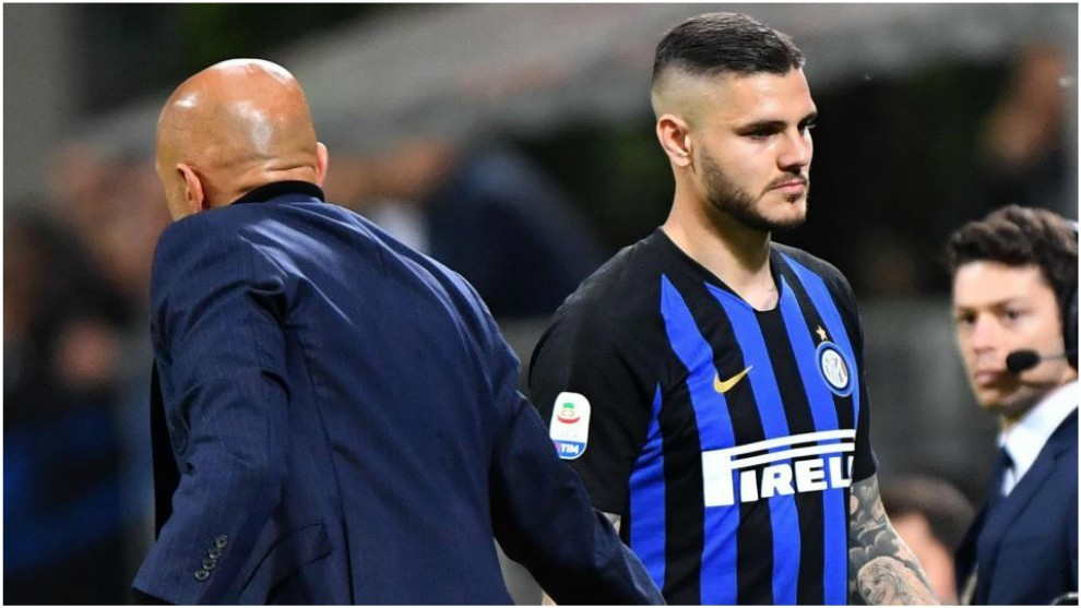 Icardi and Spalletti.