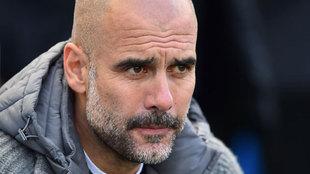 Josep Guardiola, entrenador del Manchester City.