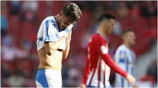 Diego Reyes, en un partido con el Leganés ante el Atlético de...