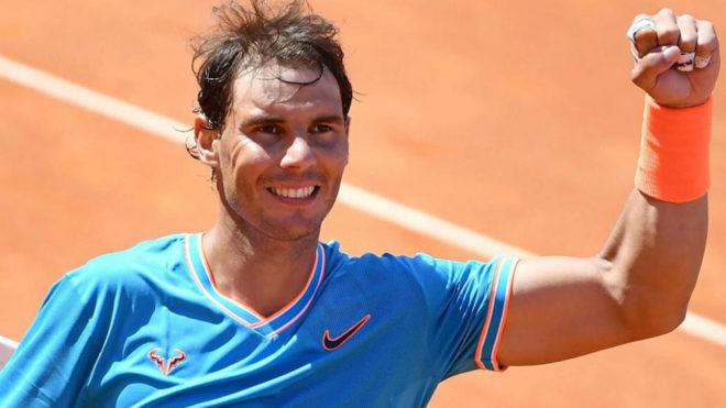 Rafa Nadal celebra su victoria frente a Fernando Verdasco.