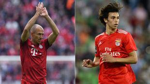 Robben y Joao Félix.