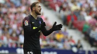 Oblak durante un partido del Atlético de Madrid.