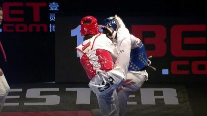 Una imagen de la final entre Javier Pérez Polo y Bradly Sinden.