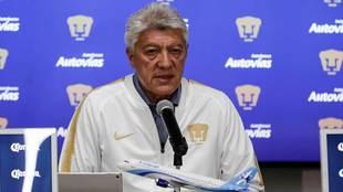 Jesús Ramírez en conferencia de prensa al anunciar la contratación...
