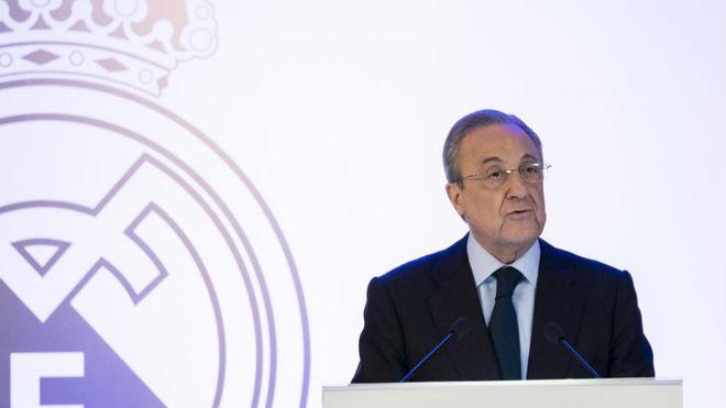 Florentno Pérez, en la presentación del nuevo Bernabéu