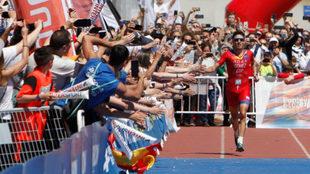 Gómez Noya en el Campeonato del Mundo de Triatlón Multideporte de...
