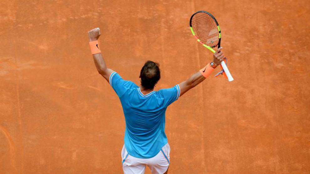 Rafael Nadal celebra la victoria ante Tsitsipas en las semifinales de...
